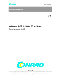 ACE Alcoscan II Basic 100025 User Manual