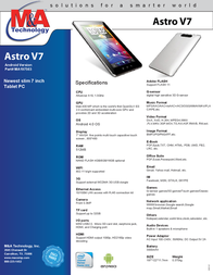 M&A Technology Astro V7 MA197563 Leaflet