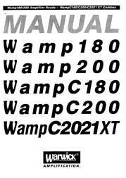Warwick Wamp C180 User Guide