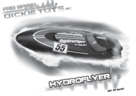 Dickie Toys Dickie RC Hydroflyer RTR Boat 201119410 Data Sheet