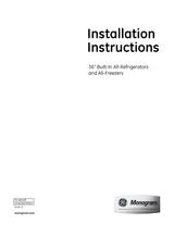 Monogram ZIFS360NXRH Installation Instruction