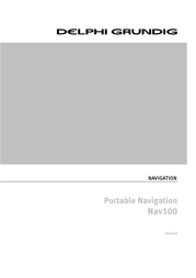 Delphi Portable Navigation Nav100 User Manual