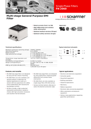 Schaffner FN 2060-10-06 Data Sheet