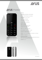 AVUS Piano PIANO Leaflet