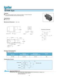 Delta Electronics Igniter IGT006 Leaflet