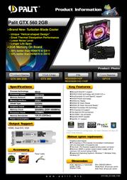Palit NE5X56001142F Leaflet