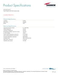 Andrew 400APNM-C User Manual