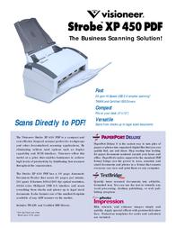 Visioneer Strobe XP 450 90-7038-200 Leaflet