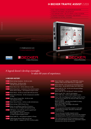Becker Traffic Assist Z203 2054.914 Leaflet