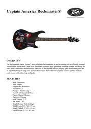 Peavey Electronics Captain America Rockmaster 03013220 Leaflet