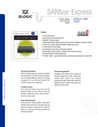 QLogic SB1404 SB1404-10AJ-E Leaflet