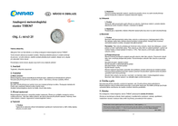 Sunartis THB 367 SS Data Sheet