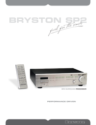 Bryston SP2 Brochure