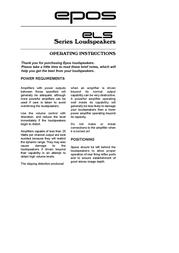 Epos ELS Series User Manual
