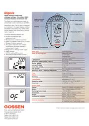 Gossen Digisix H252A Leaflet