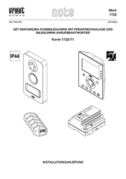 Grothe Video door intercom Corded Complete kit 74571 Detached Anthracite, White 74571 User Manual