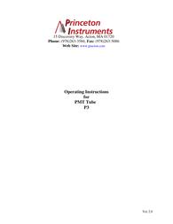 Princeton P3 Benutzerhandbuch