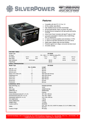 MaxPoint Silver Power SP-SS400 12701 Leaflet
