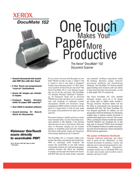 Visioneer Xerox DocuMate 152 90-8014-800 Leaflet