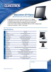 Glancetron GT17plus JT-888 GT17PLUS Leaflet