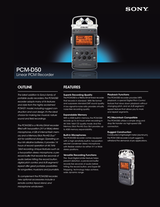 Sony PCM-D50 Specification Guide