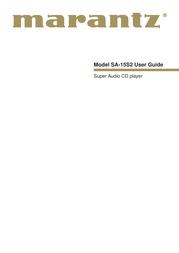 Marantz SA-15S2 User Manual