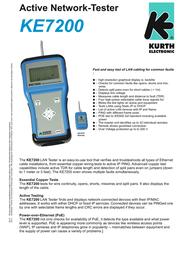 Kurth Electronic KE7200 PRO Kit 0.49421 Leaflet