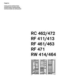 Gaggenau gaggenau refigerator rc 462/413 rf 411/413 rf 461/463 rf 471 rw 414/464 User Manual