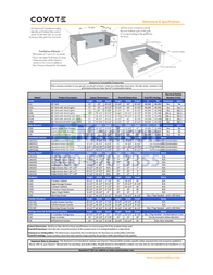 COYOTE CSLX36NG Specification Sheet