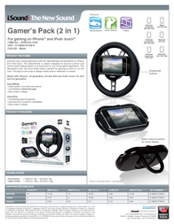 iSound Gamer's Pack for iPhone and iPod Touch DGIPOD-1558 Leaflet