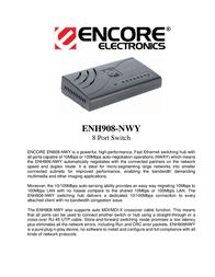 ENCORE ENH908-NWY Leaflet