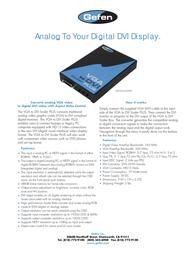 Gefen EXT-VGA-2-DVISP Leaflet
