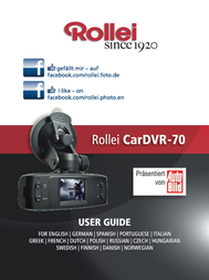 Rollei Since 1920 Car camera Horizontal viewing angle=120 ° 12 V 5040121 User Manual