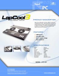 Vantec LapCool 3 LPC-401 Leaflet