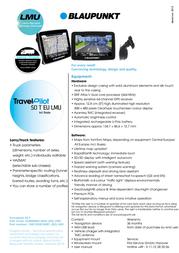 Blaupunkt Travelpilot 50T LMU 1081234518001 Leaflet