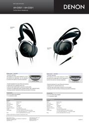 Denon AH-D301K: On-Ear Headphones AH-D301K Leaflet