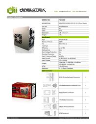 Diablotek International PSDA500 Leaflet