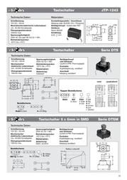 Namae Electronics Pushbutton 12 Vdc 0.05 A 1 x Off/(On) momentary 1 pc(s) JTP-1243 Data Sheet