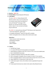 Holux gpsmile236 Specification Guide