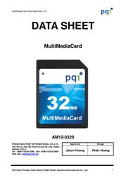 PQI Multi Media card 1Gb AM12-1030-0112 Data Sheet