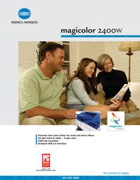 Konica Minolta Magicolor 2400W  32MB 20ppm A4 5250220-200 User Manual