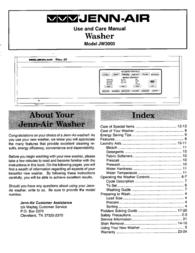 Jenn-Air mL' JENN-AIR JW3000 User Manual
