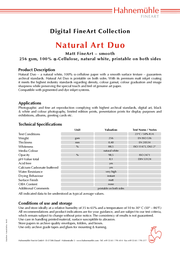 Hahnemühle Natural Art Duo A3+ HAH10640713 Leaflet