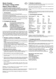 Esotec Solar fountain system Siena 101778 101778 Leaflet