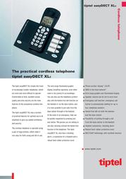Tiptel easyDECT XL2 1090855 Leaflet