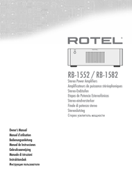 Rotel RB-1552 User Manual