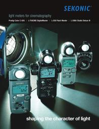 Sekonic L-758 Cine 100390 User Manual