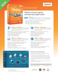 Roxio Creator 2011 246010UK Leaflet
