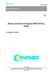 Sangean DAB Digital Radio DPR2 DPR2 Data Sheet