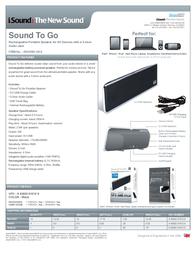iSound Sound To Go ISOUND-1612 Leaflet